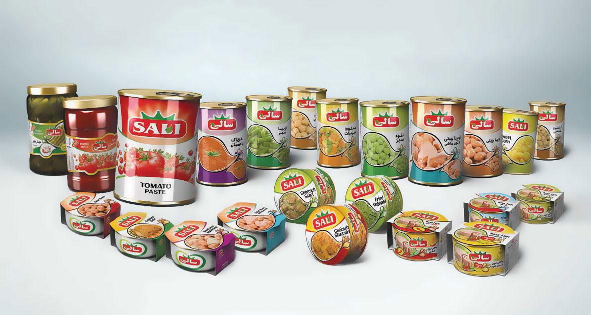 طراحی گرافیک محصولات سالی